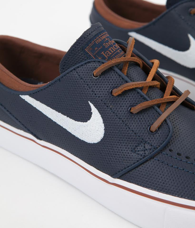 official photos 5a51f d12b9 ... Nike SB Stefan Janoski OG Shoes - Obsidian   White - Rustic - White ...
