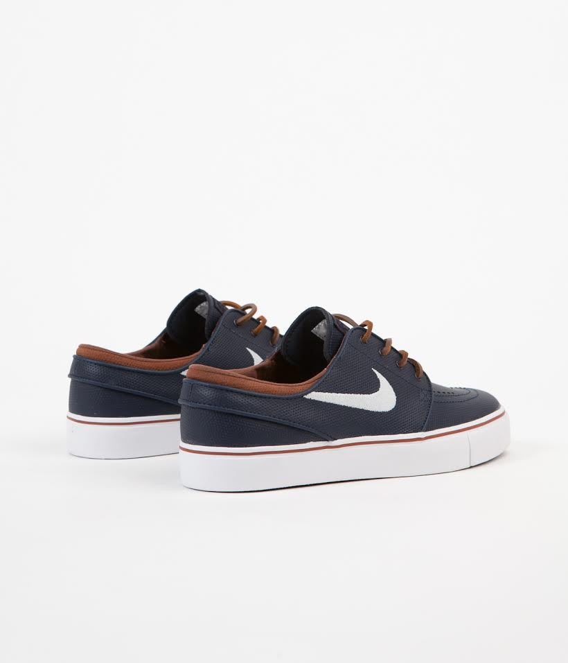 official photos 42a25 180ee ... Nike SB Stefan Janoski OG Shoes - Obsidian   White - Rustic - White ...