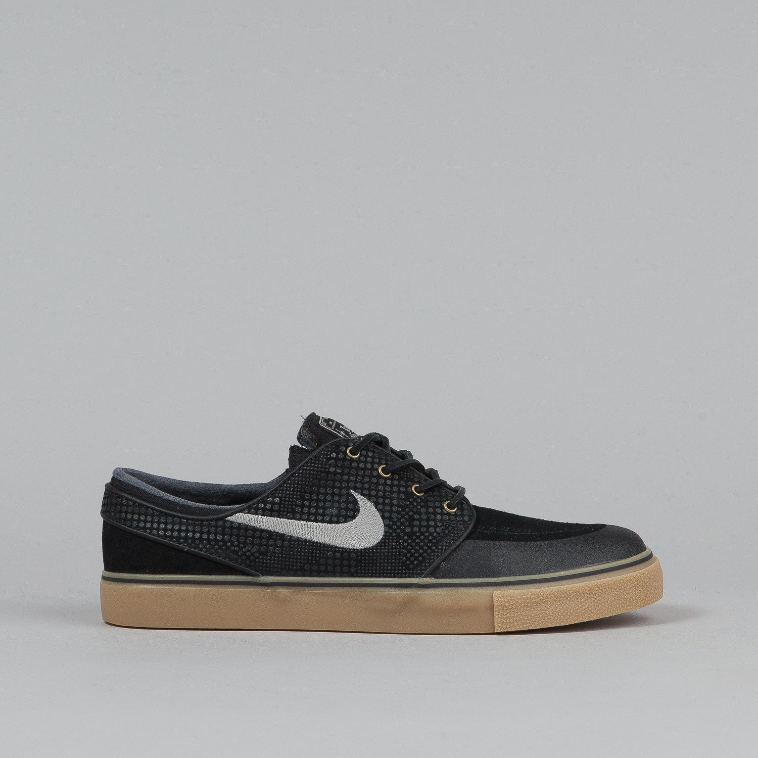 Nike SB Stefan Janoski PR SE Shoes - Black / Medium Grey / Gum Light Brown / Anthracite
