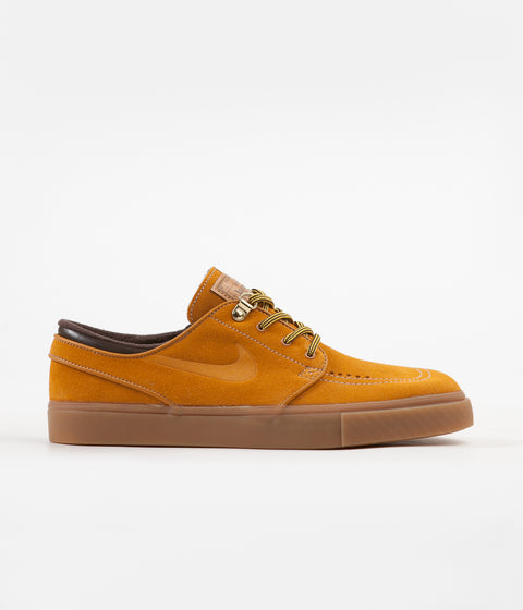 Nike SB Stefan Janoski Premium Shoes - Bronze / Bronze - Gum Light Brown