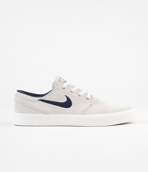 Nike SB Stefan Janoski Remastered Shoes - Summit White / Obsidian - Team Red