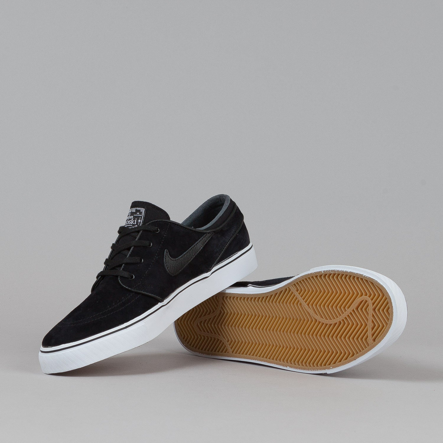 Nike SB Stefan Janoski SE Shoes Black / Black - White - Gum Light Brown