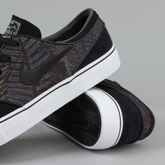 Nike SB Stefan Janoski Shoes - Black / Black / White / Medium Olive