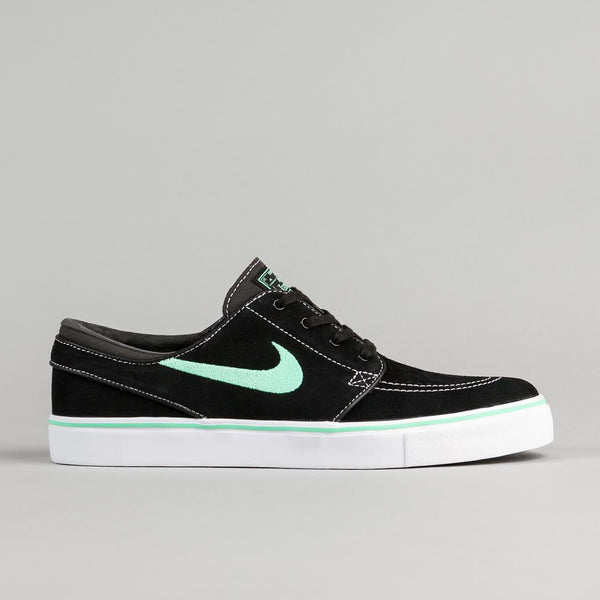 Nike SB Stefan Janoski Shoes - Black / Green Glow - Anthracite - White