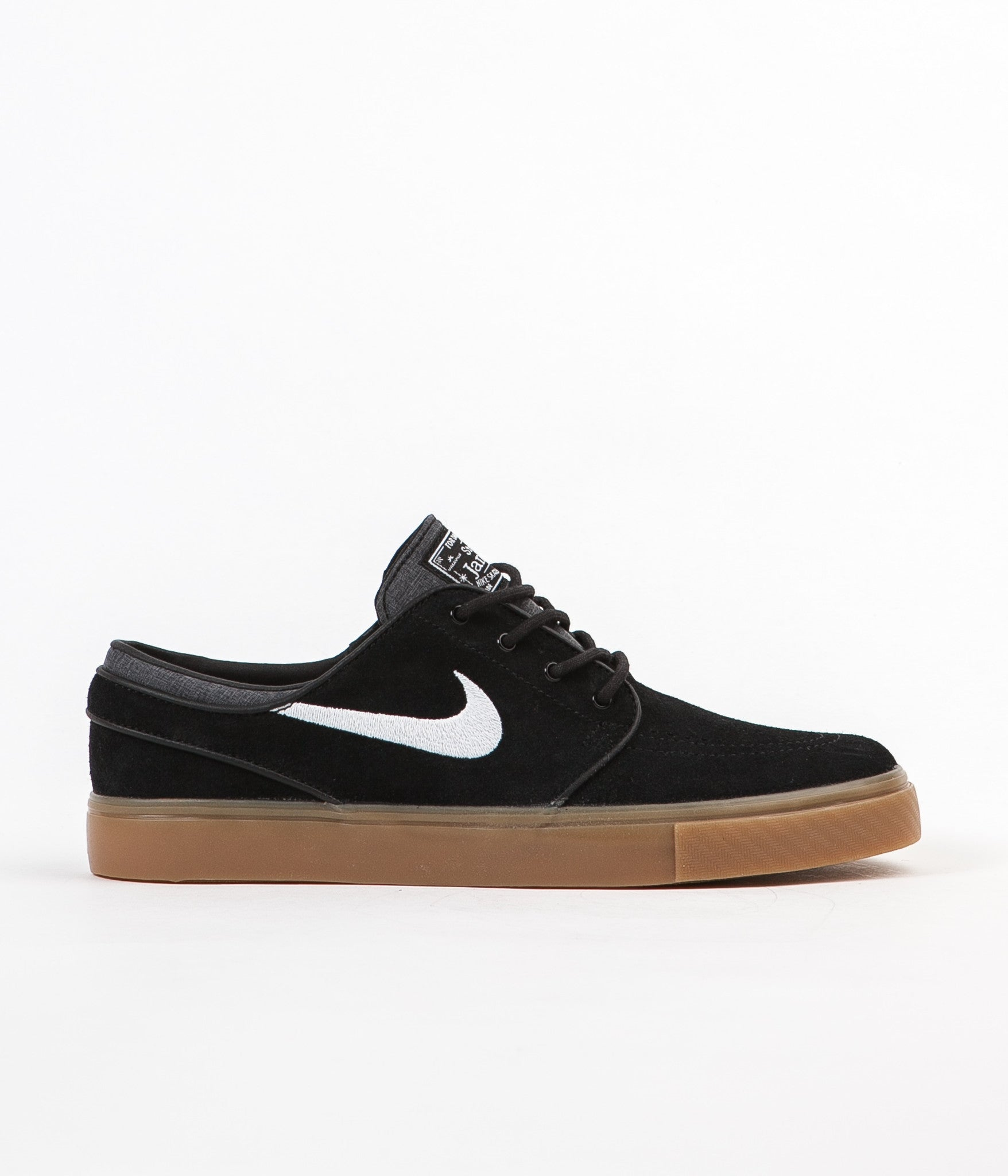 Nike SB Stefan Janoski Shoes - Black / White - Gum Light Brown