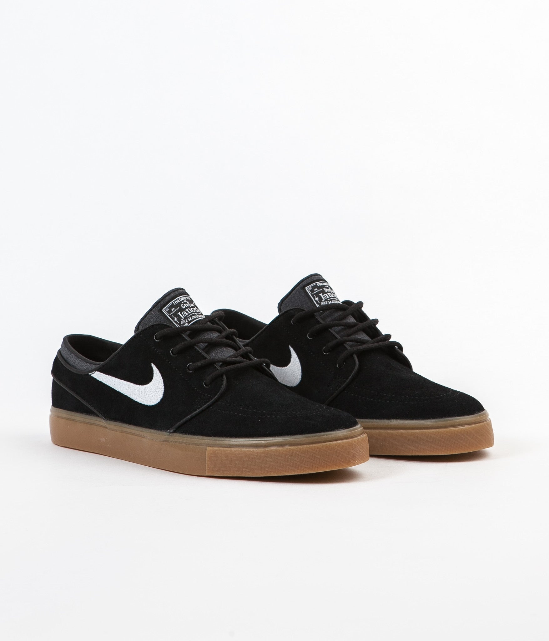 cheap for discount 64779 6e596 ... canada nike sb stefan janoski shoes black white gum light brown d6acd  81fa4
