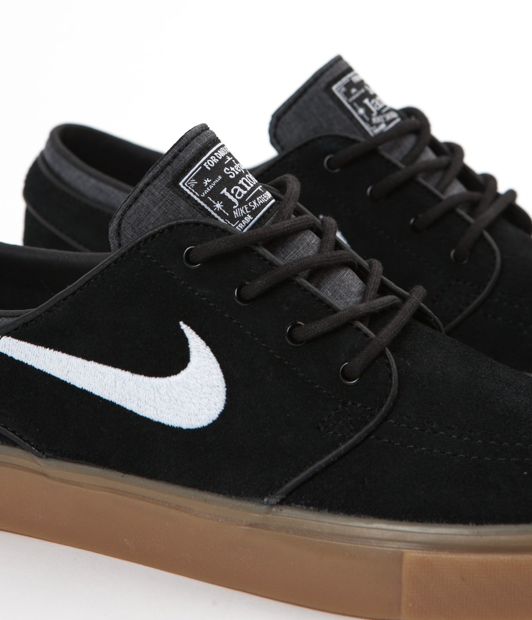 outlet store 32423 d0605 ... Nike SB Stefan Janoski Shoes - Black / White - Gum Light Brown ...