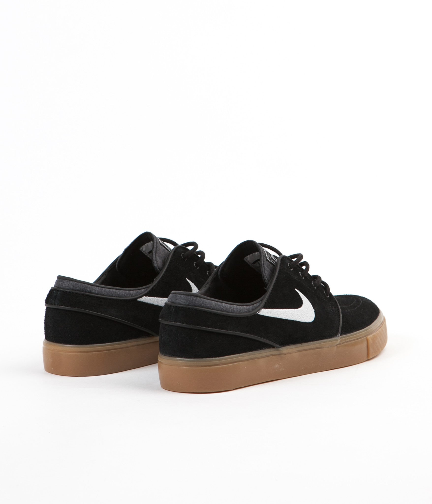 Nike SB Stefan Janoski Shoes - Black / White - Gum - Light Brown