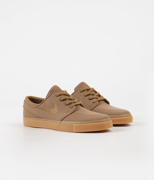 new product 917c7 bd257 Nike SB Stefan Janoski Shoes - Golden Beige   Golden Beige - Gum Yello    Flatspot