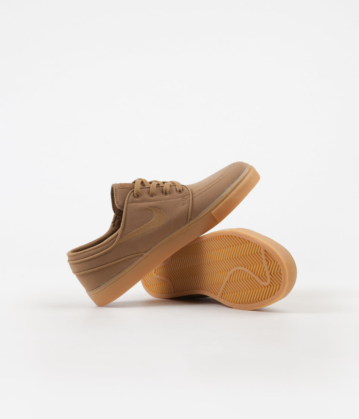 Nike SB Stefan Janoski Shoes - Golden Beige / Golden Beige - Gum Yellow