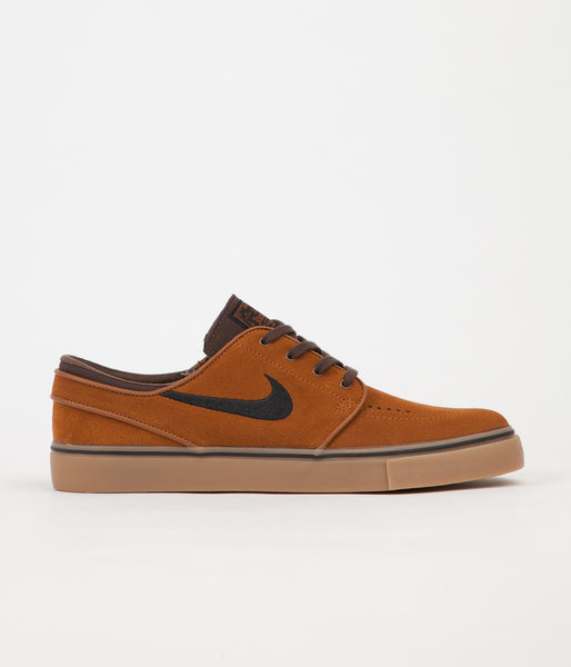 Nike SB Stefan Janoski Shoes - Hazelnut / Black - Baroque Brown - Gum Light Brown