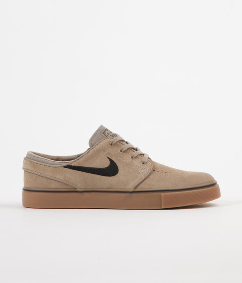 Nike SB Stefan Janoski Shoes - Khaki / Black - Gum Light Brown