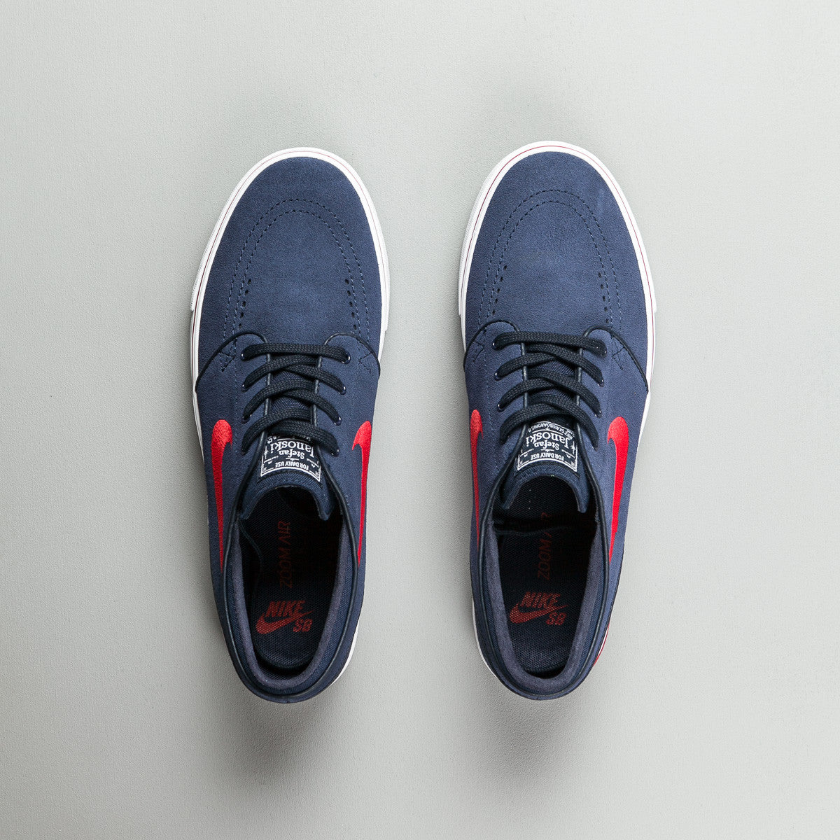 Nike SB Stefan Janoski Shoes - Obsidian / University Red - Noble Red