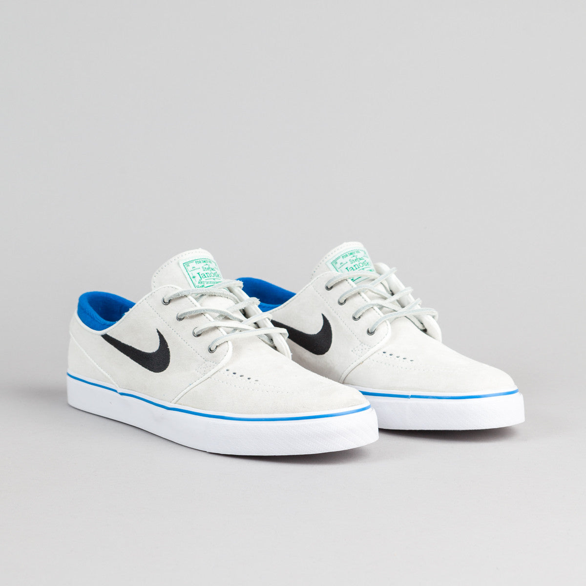 Nike SB Stefan Janoski Shoes QS - Summit White / Black - Lucid Green