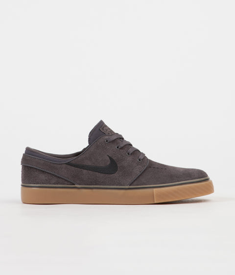 Nike SB Stefan Janoski Shoes - Thunder Grey / Black - Gum Light Brown
