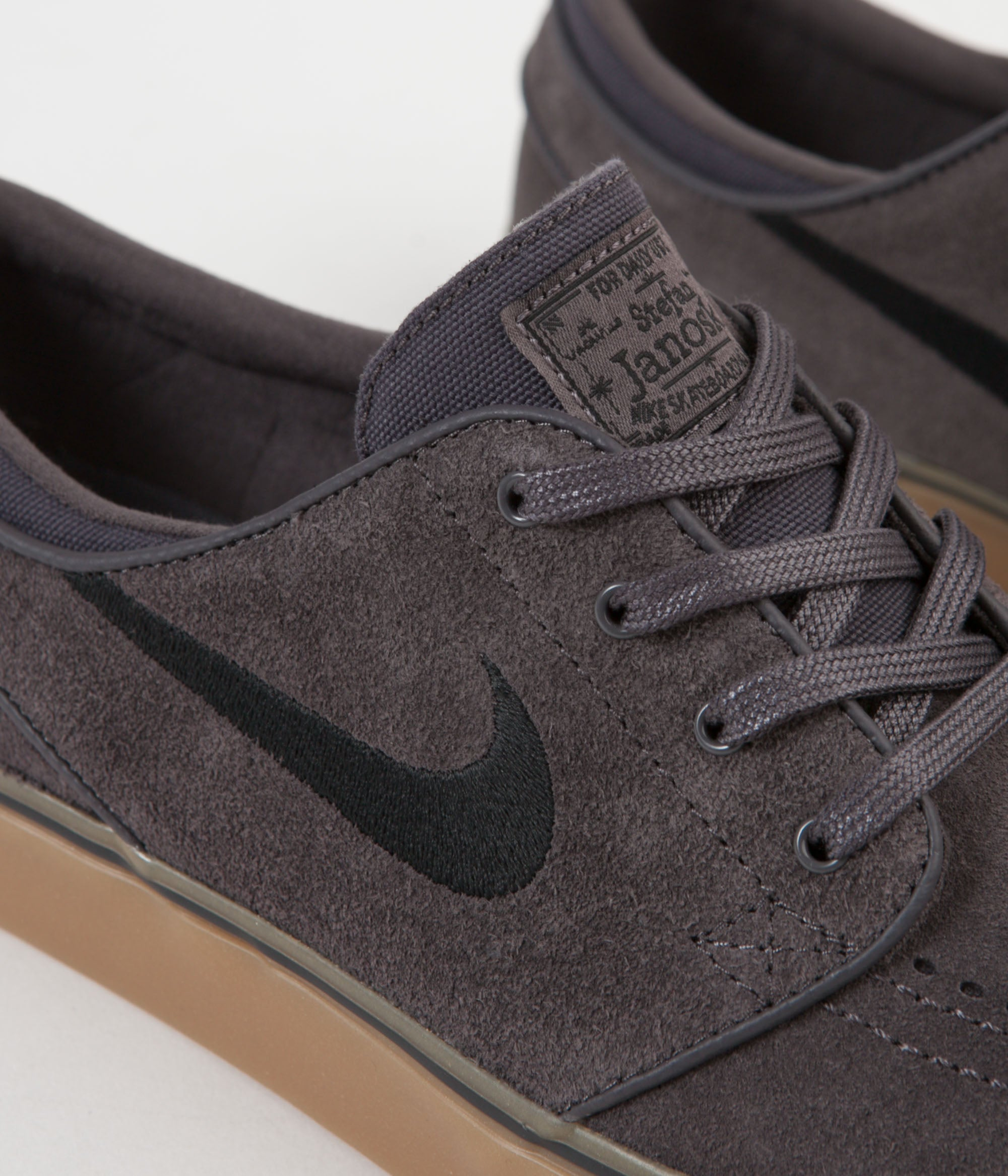 best sneakers 45b35 ff2ce ... Nike SB Stefan Janoski Shoes - Thunder Grey   Black - Gum Light Brown  ...