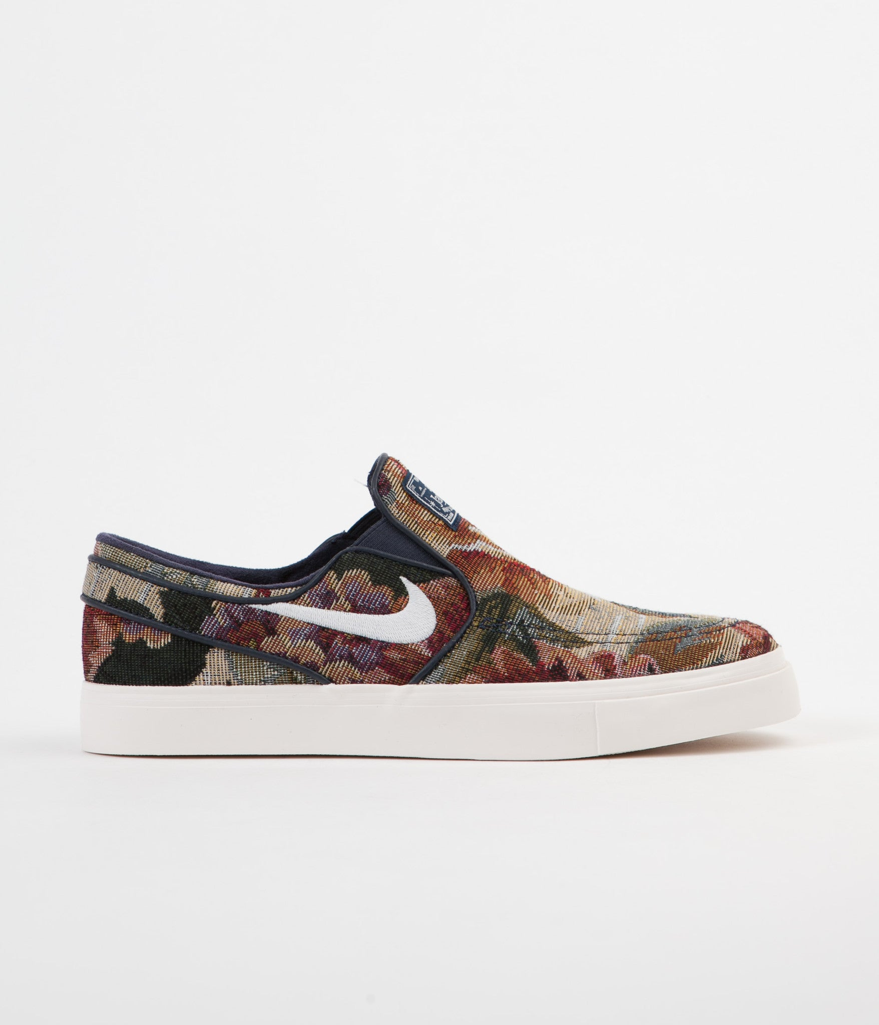 size 40 5a06e ea937 Nike SB Stefan Janoski Slip On Canvas Premium Shoes - Multi-colour   White  - Ivory - Obsidian