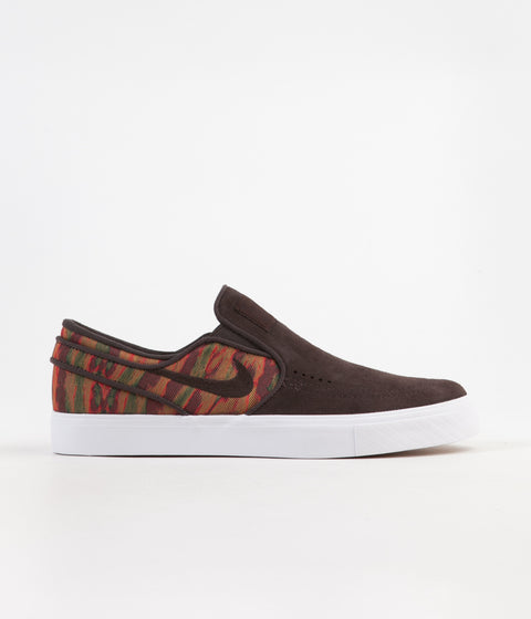 Nike SB Stefan Janoski Slip On Premium Shoes - Velvet Brown / Velvet Brown - Multi Colour