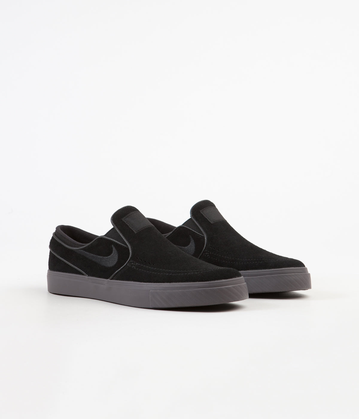 Nike SB Stefan Janoski Slip On Shoes - Black / Black - Thunder Grey