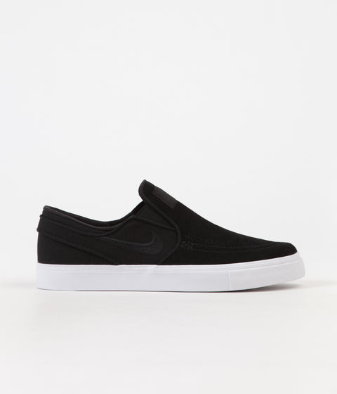 Nike SB Stefan Janoski Slip On Shoes - Black / Black - White