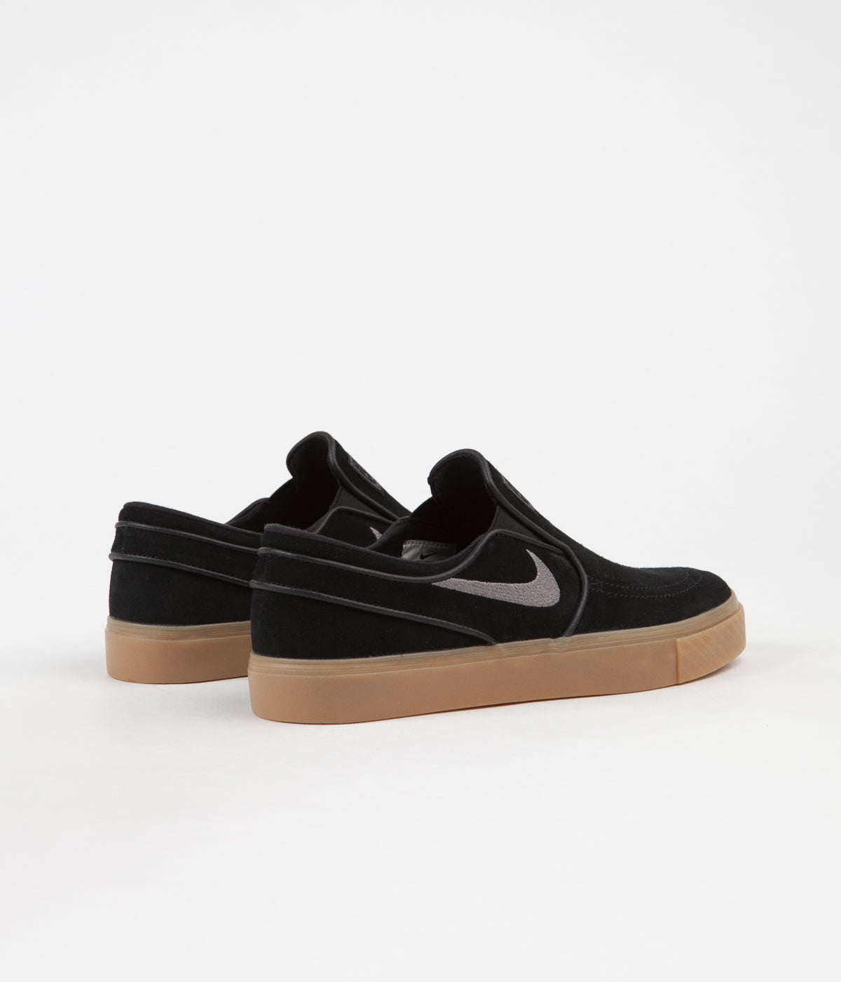 385605739 ... Nike SB Stefan Janoski Slip On Shoes - Black   Gunsmoke - Gum Light  Brown ...