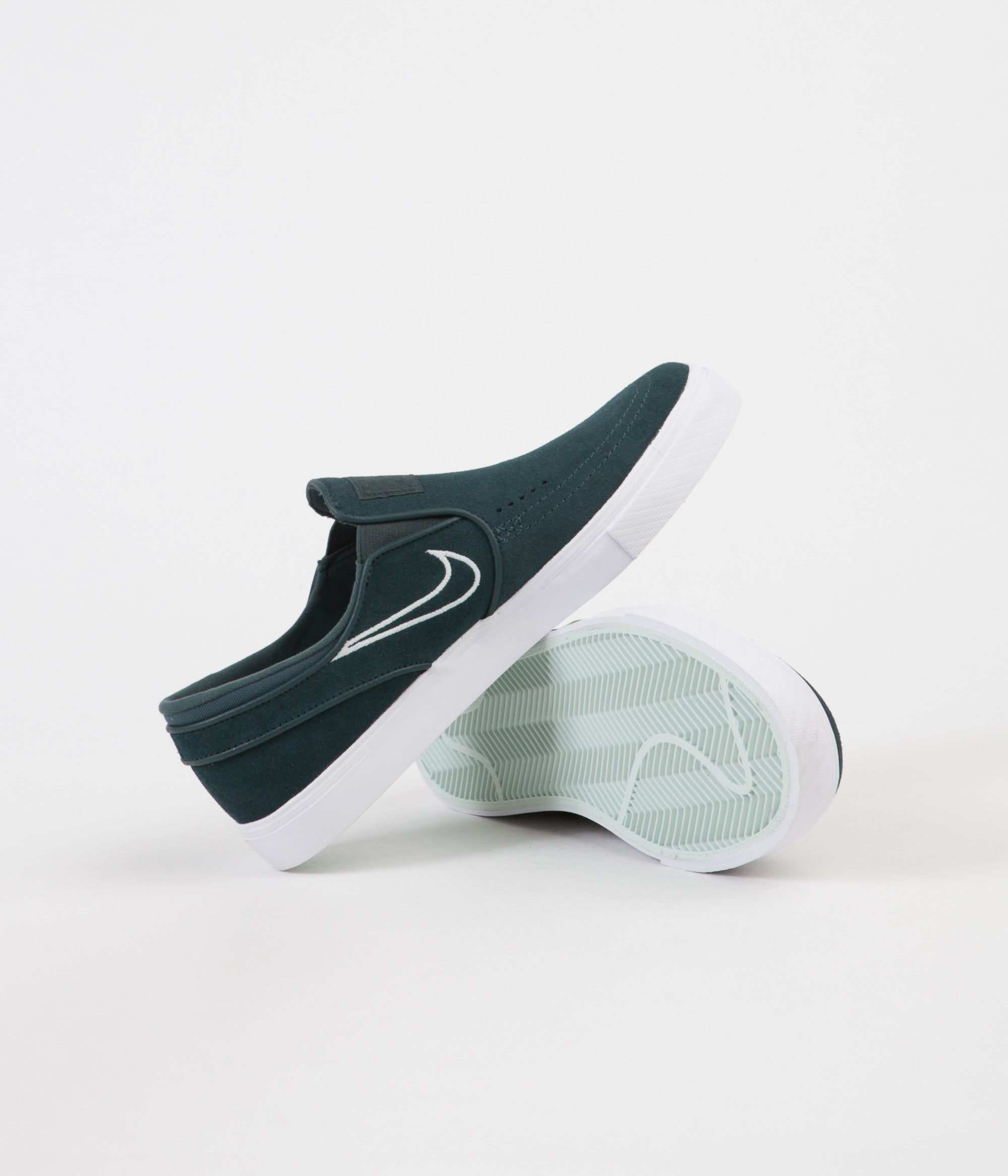 Nike SB ZOOM STEFAN JANOSKI - Slip-ons - deep jungle/barely grey/white qxxSUA8vU