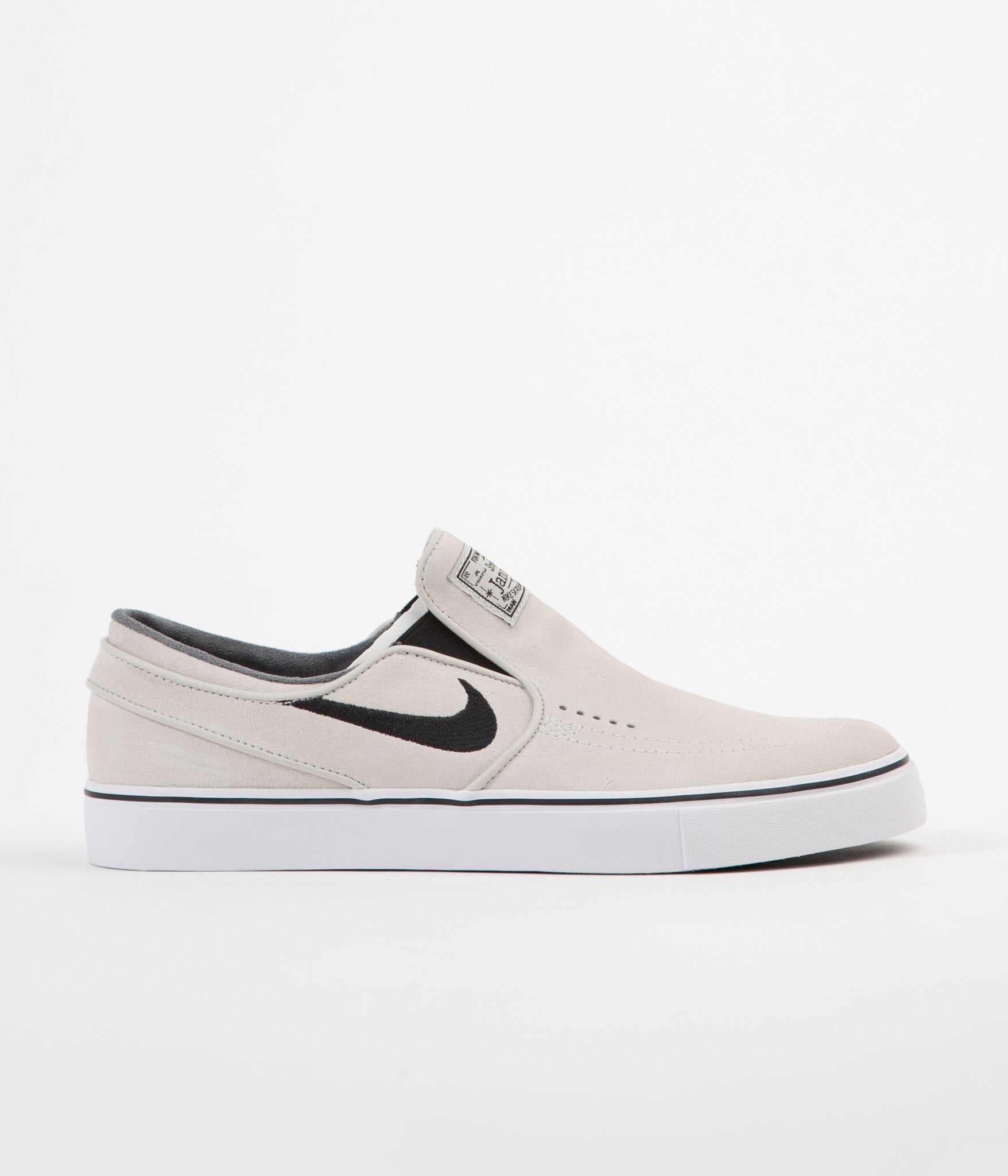 Nike SB Stefan Janoski Slip On Shoes - Light Bone / Black - White - Black