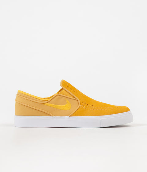 Nike SB Stefan Janoski Slip On Shoes - Yellow Ochre / Yellow Ochre - White