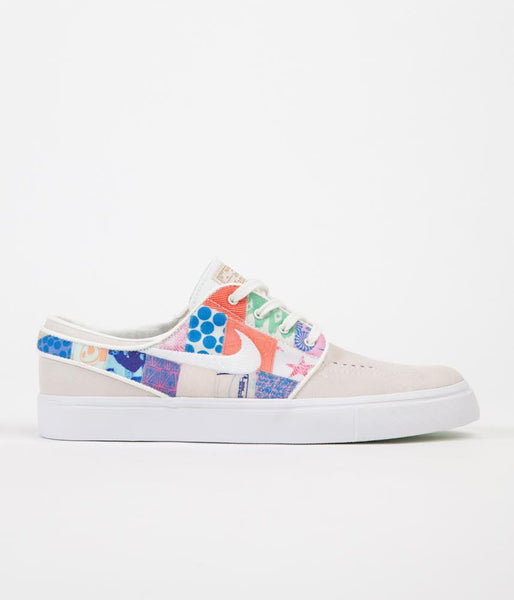 Nike SB Stefan Janoski Thomas Campbell Shoes - Sail / White - Multicolour - Metallic Gold