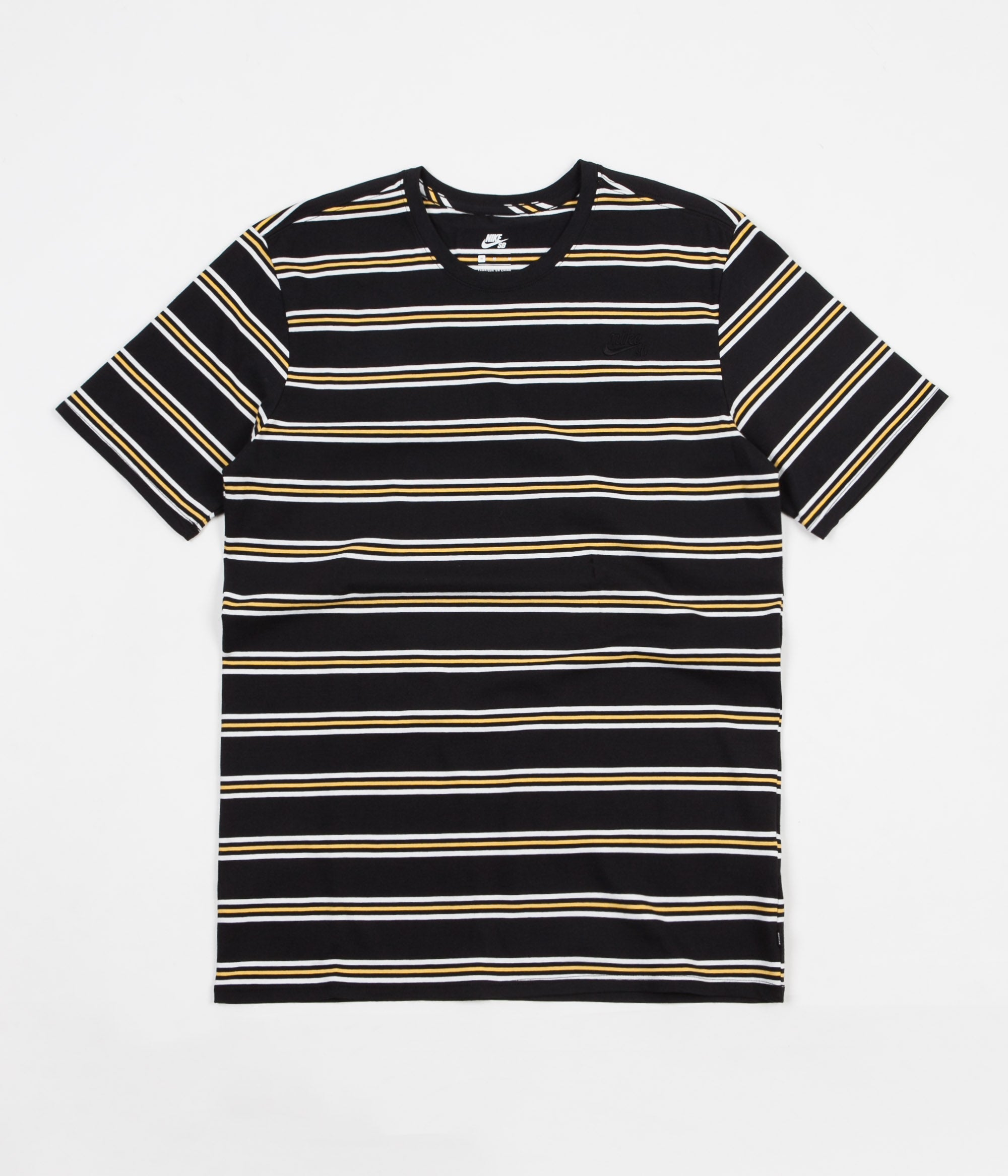 Nike SB Summer Stripe T-Shirt - Black / Black / Laser Orange