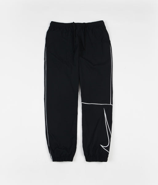 detailed images limpid in sight hot sale Nike SB Swoosh Track Pants - Black / White / White