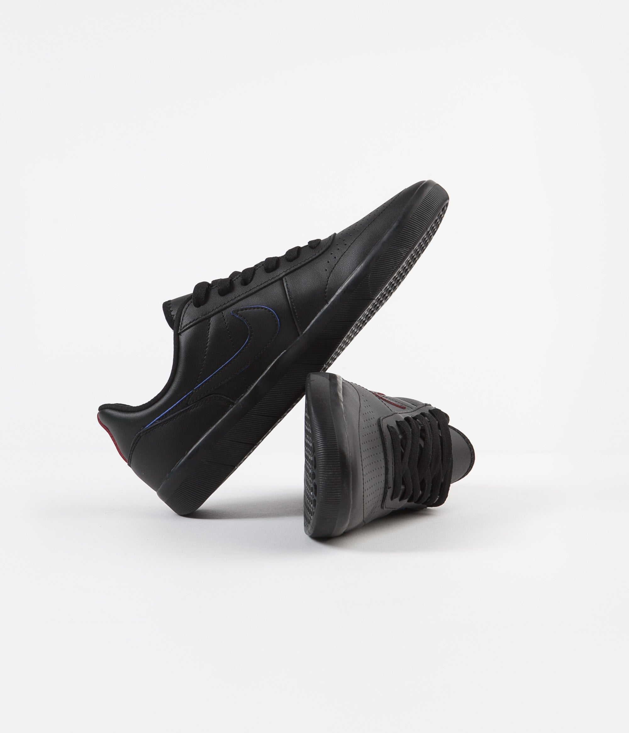 Nike SB Team Classic Premium Shoes - Black / Black - University Red - Pacific Blue