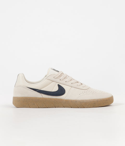 Nike SB Team Classic Shoes - Light Cream / Obsidian - Gum Yellow