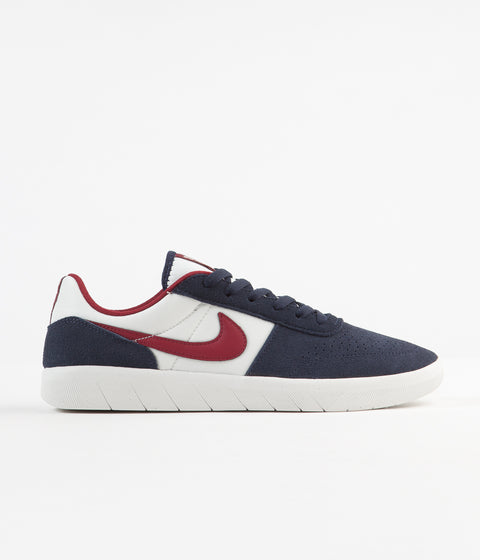 Nike SB Team Classic Shoes - Obsidian / Team Red - Summit White