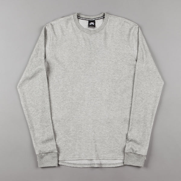 good selling united kingdom newest Nike SB Thermal Long Sleeve T-Shirt - Dark Grey Heather / Dark Steel Grey
