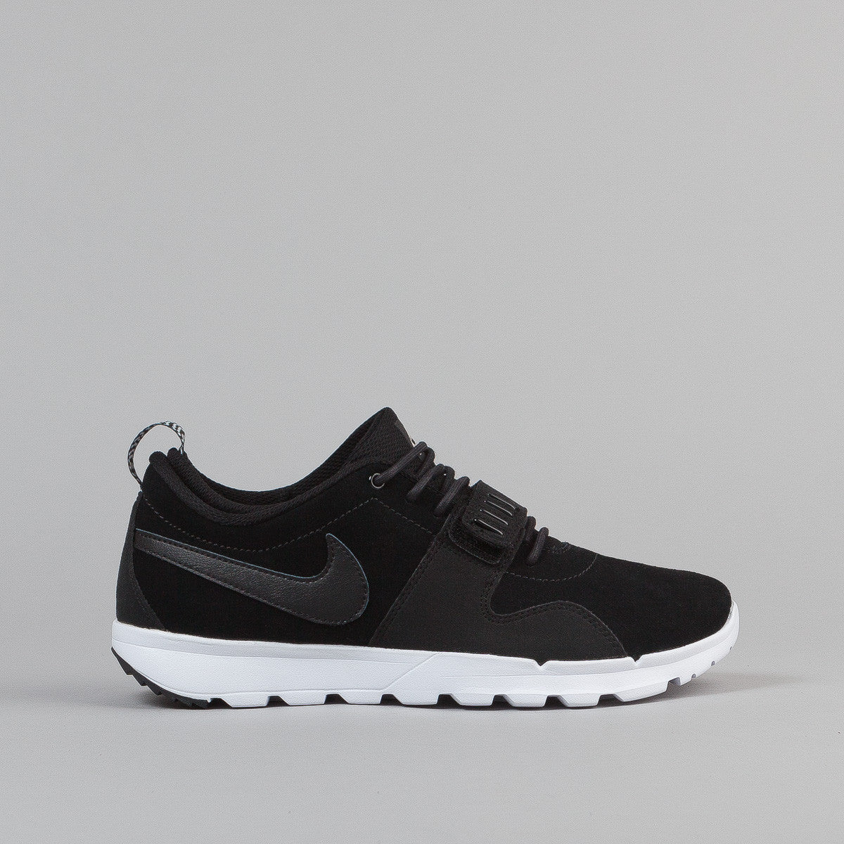 Nike SB Trainerendor L Shoes - Black / Black / White | Flatspot