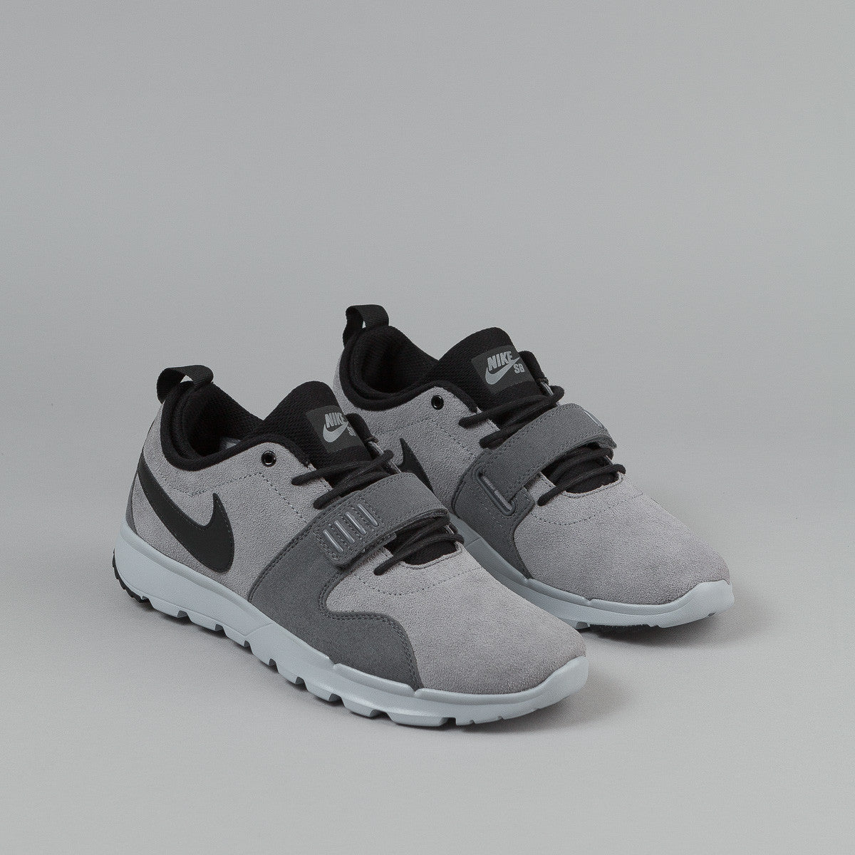 Nike SB Trainerendor L Shoes - Cool Grey / Black - Dark Grey - Wolf Grey