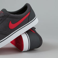 Nike SB Vulc Rod Shoes - Anthracite / Hyper Red - White