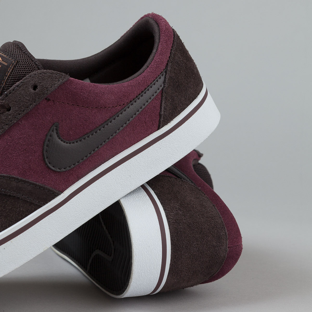 Nike SB Vulc Rod Shoes - Deep Burgundy / Tar - Metallic Copper