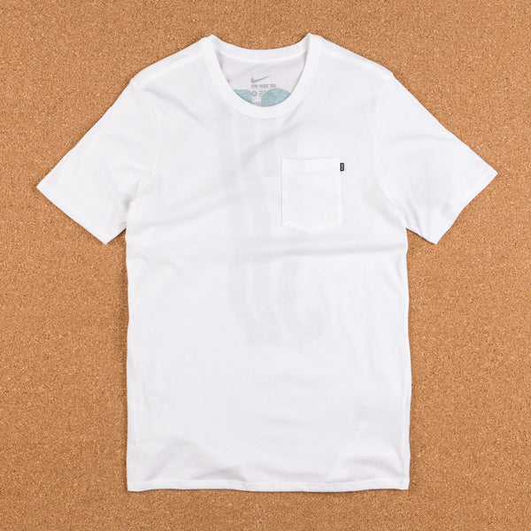 Nike SB Wave T-Shirt - White / White / Rio Teal