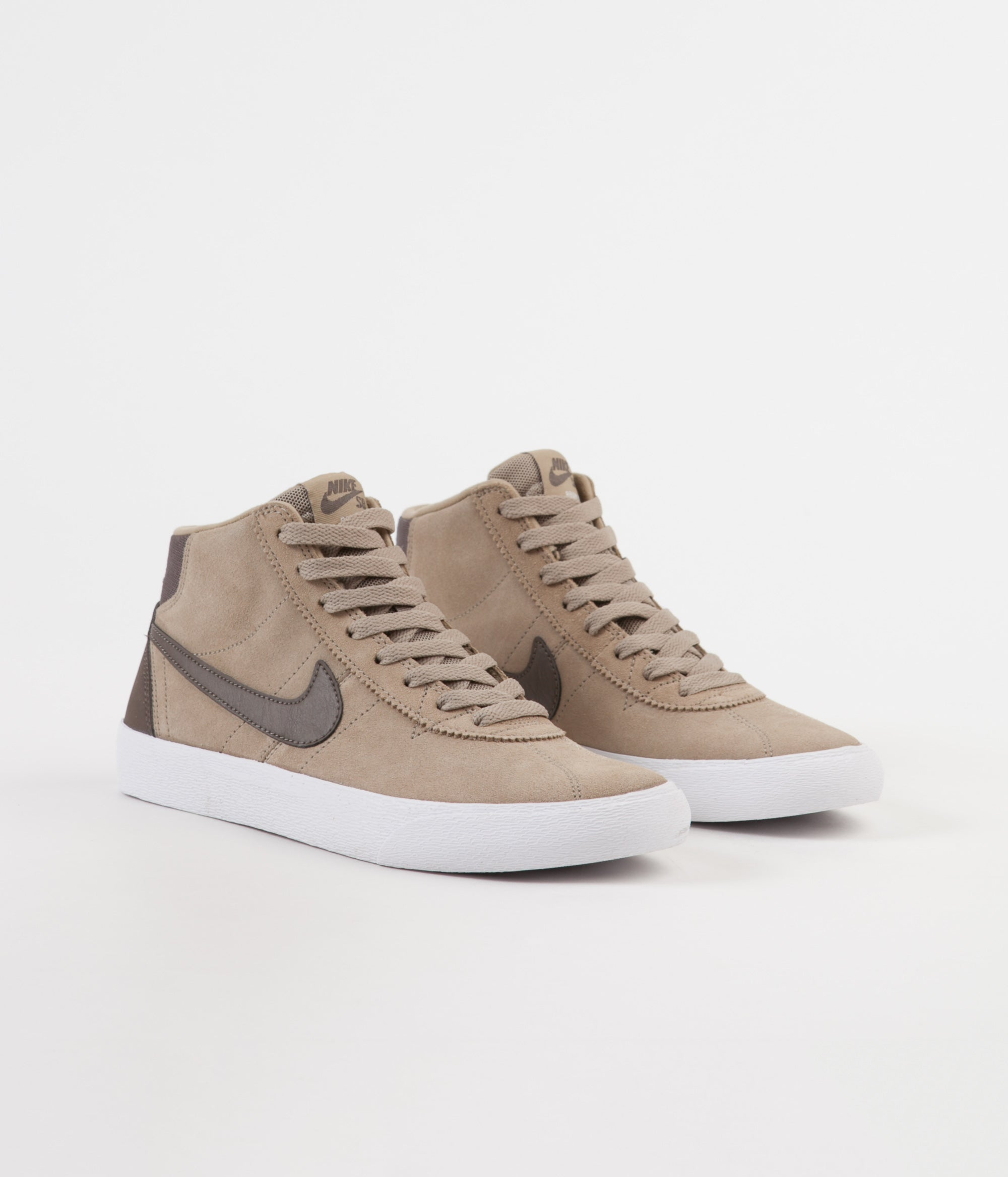 c246b251d5a5 ... Nike SB Women s Bruin Hi Shoes - Khaki   Ridgerock - White ...