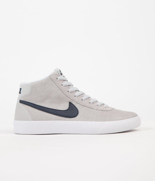 Nike SB Womens Bruin Hi Shoes - Pure Platinum / Obsidian - White