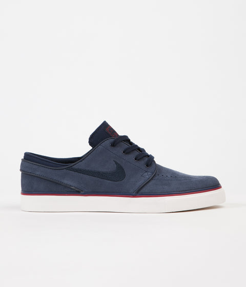 Nike SB Womens Stefan Janoski Shoes - Obsidian / Dark Obsidian - Team Red