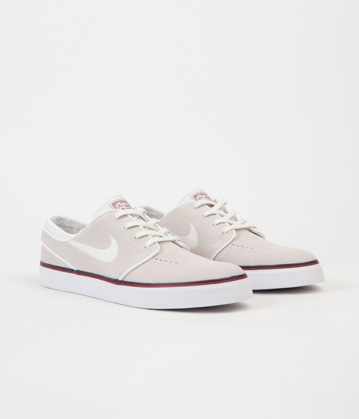 Nike SB Womens Stefan Janoski Shoes - Summit White / Ivory - Team Red - Obsidian