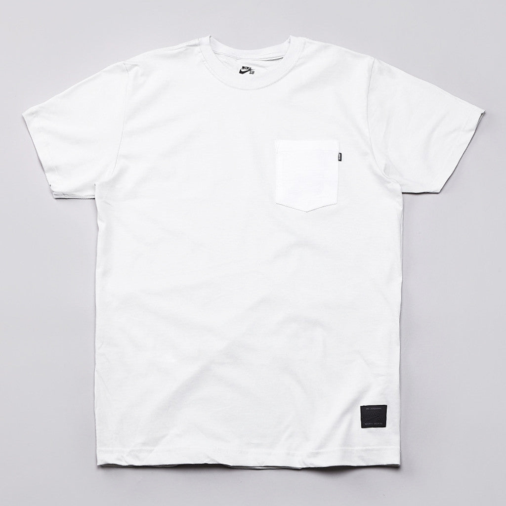 Nike Sb Woodgrain Pocket T Shirt Light Base Grey / White