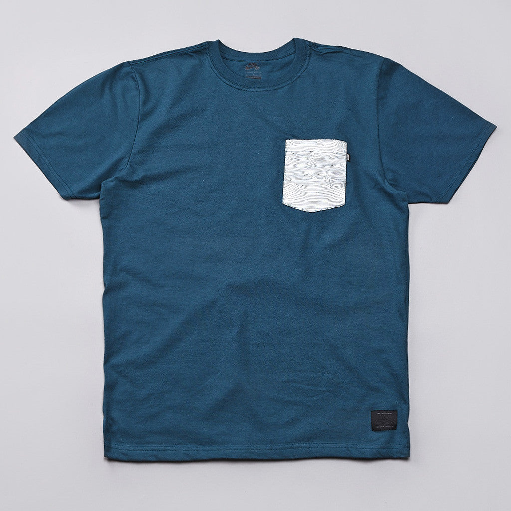 Nike Sb Woodgrain Pocket T Shirt Night Factor / White