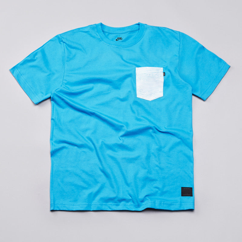 Nike Sb Woodgrain Pocket T Shirt Vivid Blue / White