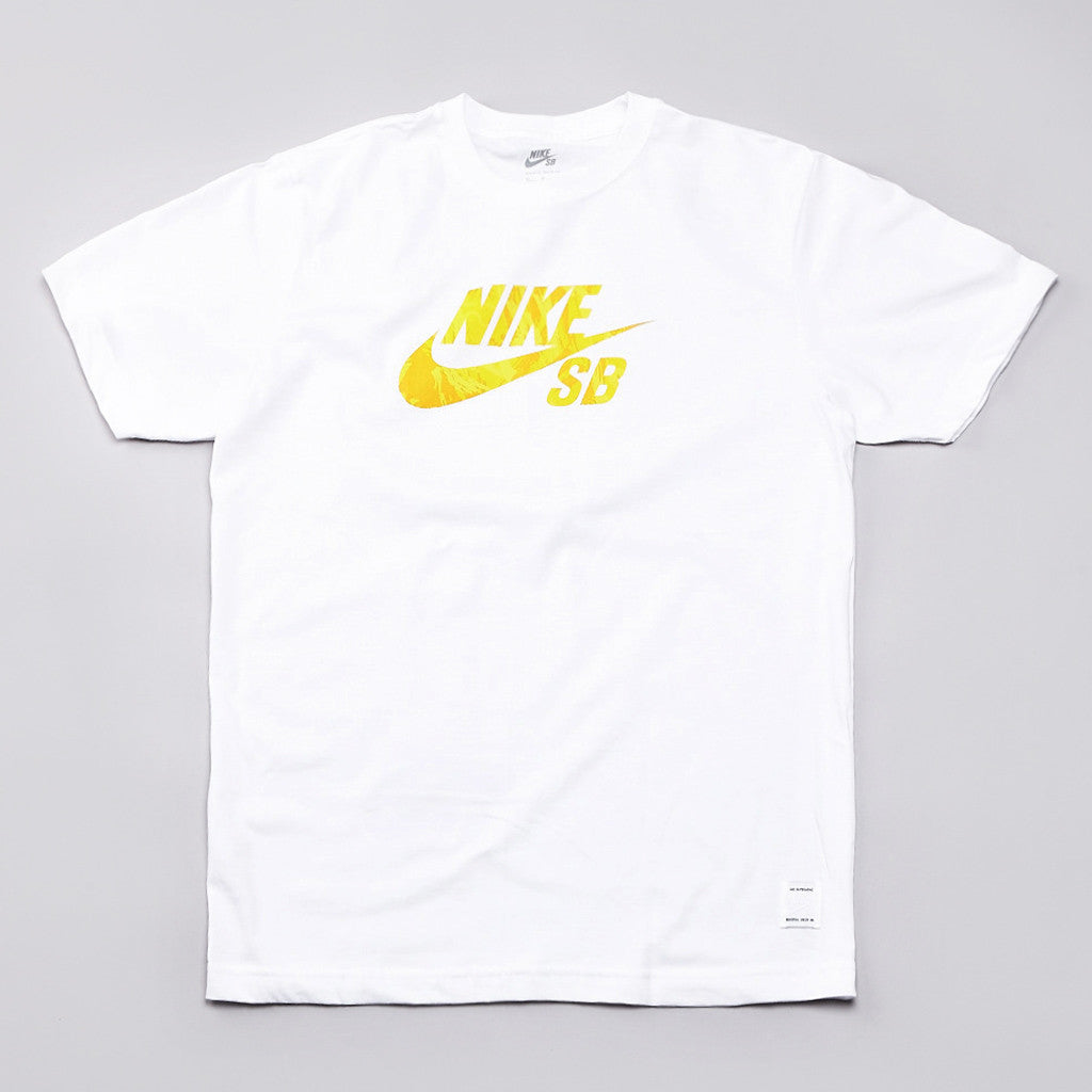 Nike Sb Icon Lizard Camo Fill T Shirt White