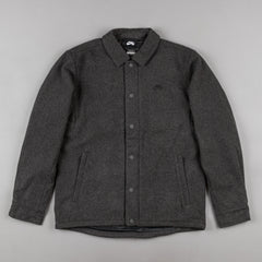 Nike SB Wool Coaches Jacket - Charcoal Heather / Black