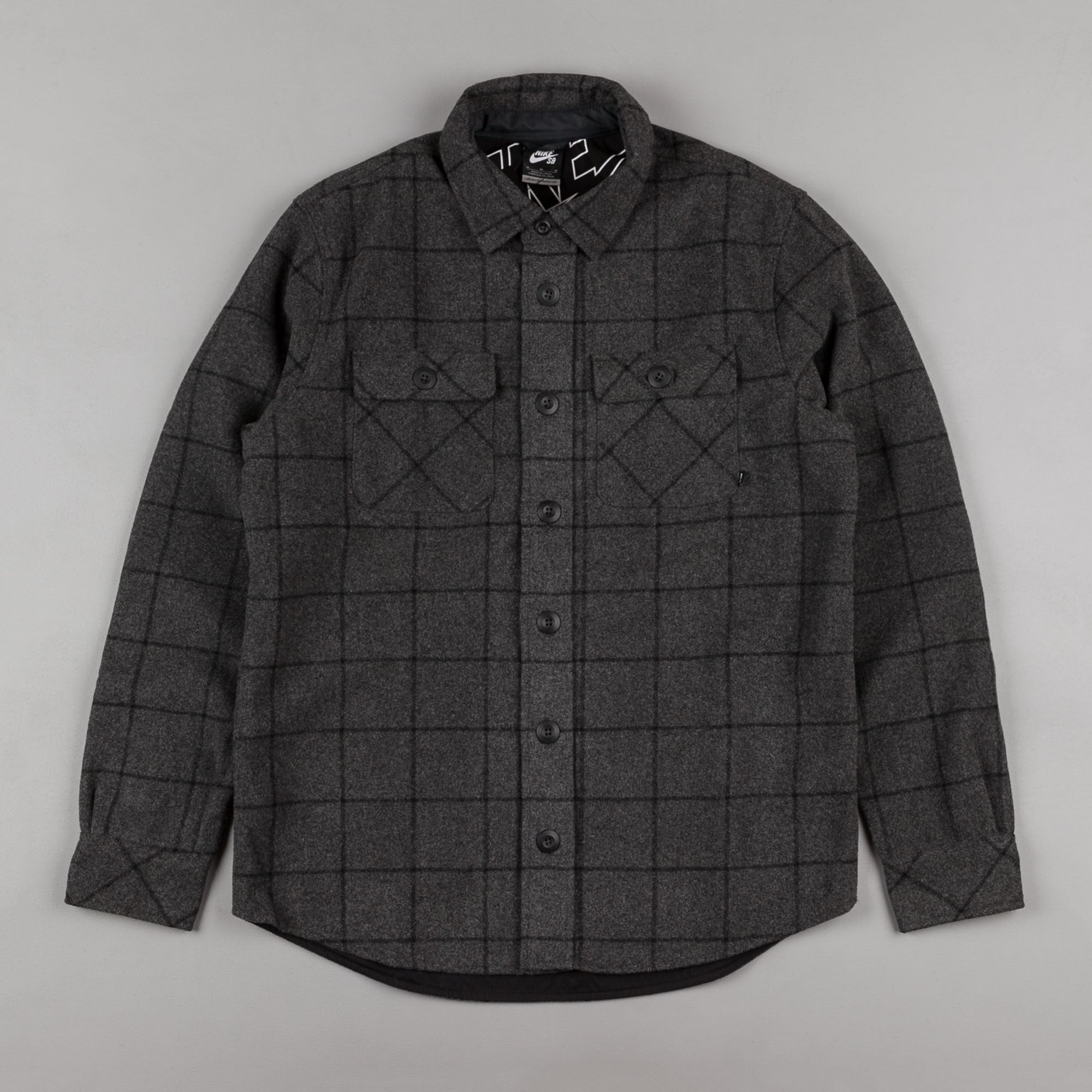 Nike SB Holgate Yarn Dye Shirt - Charcoal Heather